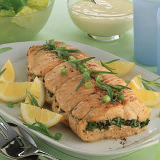 Baked Salmon with Herbs and Capers.
