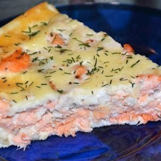 Priming Pie With Salmon Fillets