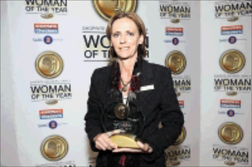 TRAILBLAZER: Shoprite Checkers-SABC 2 Woman of the Year in the sport category Sherylle Calder. © Sowetan.