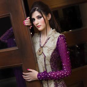 Portrait by Awais Javed - People Portraits of Women ( fashion, dress, designer, women, portrait )