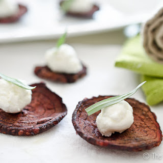 Mini Beet and Goat Cheese Salads.