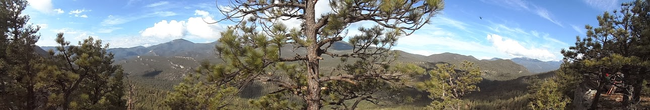 Photo: A closer panoramic of the western ridge.
