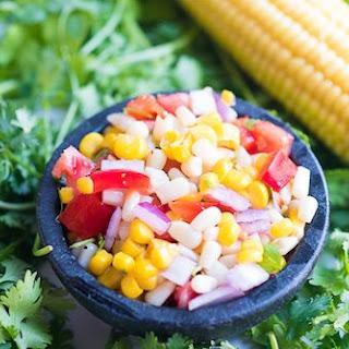 Raw Organic Sweet Corn Salsa.