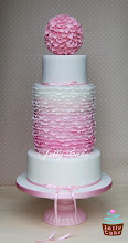 Photo: Ombre Frills Wedding Cake by JellyCake (6/24/2012) View cake details here: http://cakesdecor.com/cakes/19416
