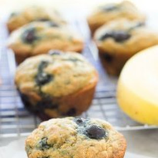 Light and Fluffy Blueberry Banana Muffins.