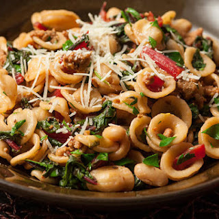 Orecchiette with Chorizo and Swiss Chard