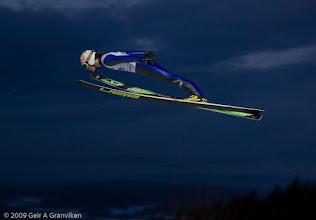 Photo: Prøvehopping i skiflygingsbakken i Vikersund, før World Cup-helgen