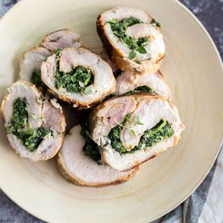 Spinach Parmesan Stuffed Pork Loin Recipe
