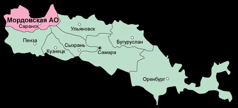 Карта Средневолжского края