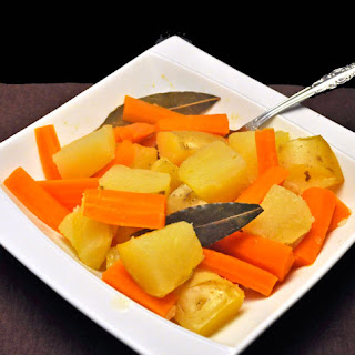 Braised Potatoes and Carrots with Bay Leaves