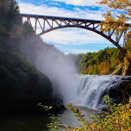 Upper Falls by Rhonda Mullen - Buildings & Architecture Bridges & Suspended Structures