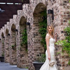 by Sabrina Causey - Wedding Bride ( wedding, woman, white, bride )