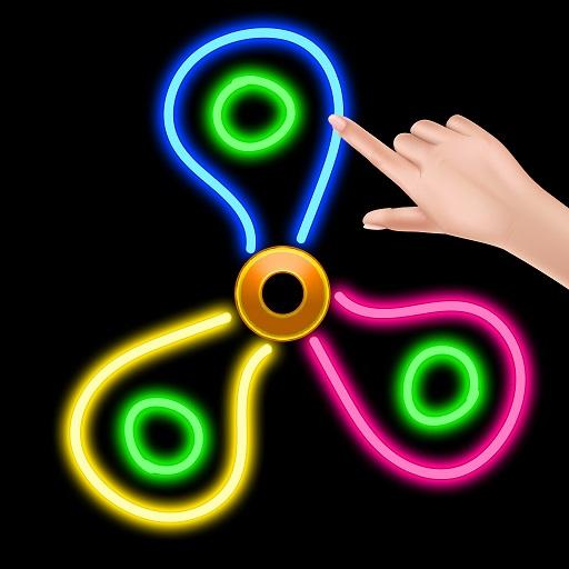 Fidget Spinner : Draw , Spin & Coloring Game Icon