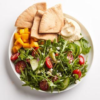 Hummus & Greek Salad.