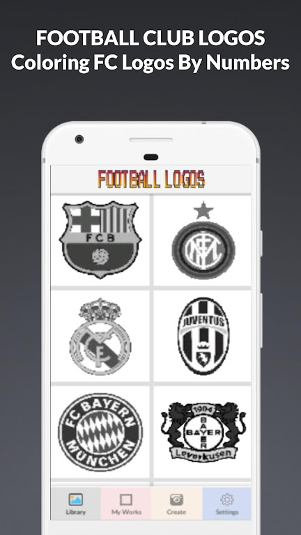 Download Colors Football Logo Pixel Art Coloring By Numbers