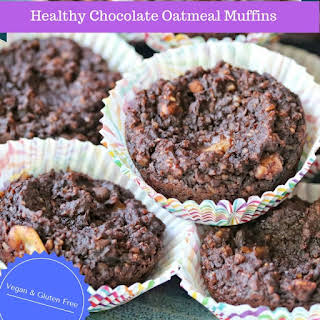 Healthy Chocolate Oatmeal Muffins.