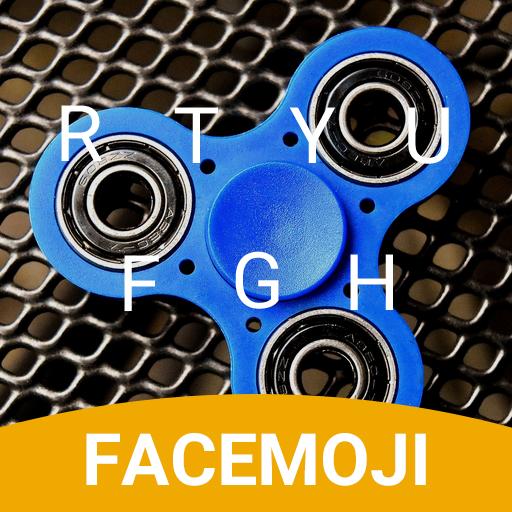 Fidget Spinner Blue Keyboard Theme musically