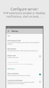 Server for PHP - náhled