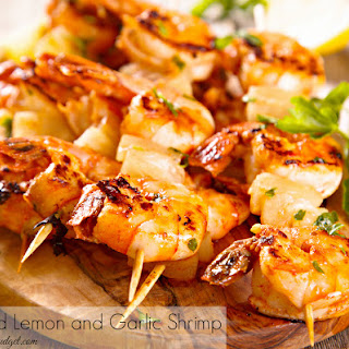 Easy Grilled Lemon Garlic Shrimp.