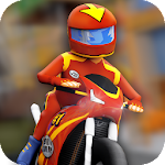 Cartoon Superbike Racing Icon