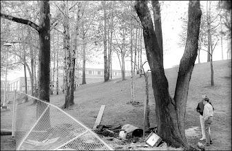 Photo: The KSU archery shed was burned here, the northeast corner of KSU common.