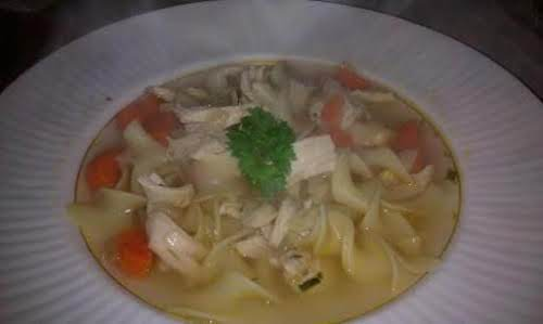 "Savory Chicken Noodle Soup""I tried this and it was so easy to..."