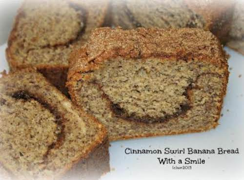 "Happy Cinnamon Swirl Banana Bread""I put a new twist on my usual..."