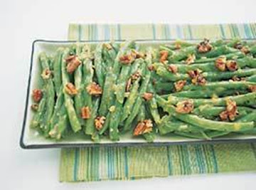 Green Beans With Orange Essence And Toasted Maple Pecans Recipe
