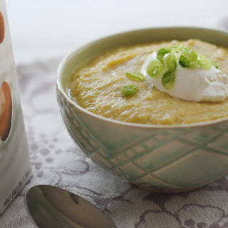 ROASTED CAULIFLOWER, LEEK AND POTATO SOUP