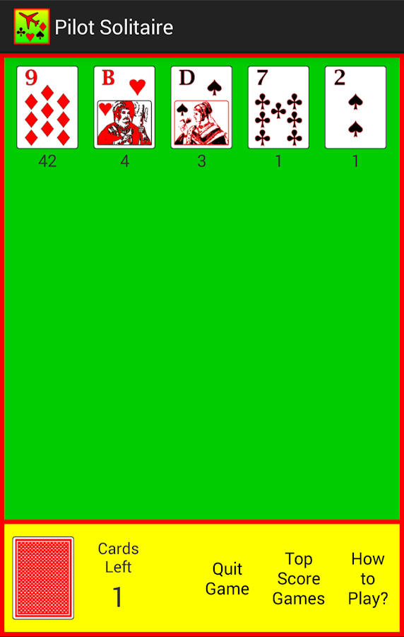 Pilot Solitaire- screenshot