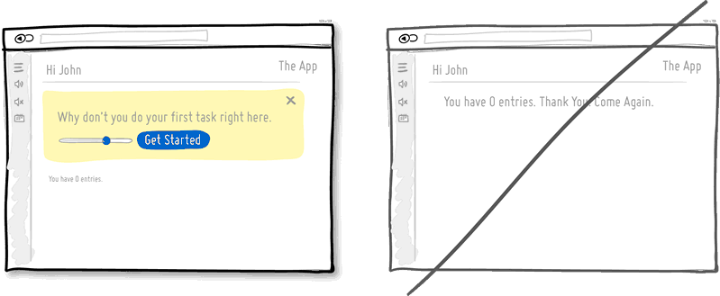 Создайте хороший дизайн не только для наполненных, но и для пустых страниц
