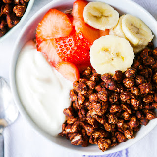 "Chocolate Puffed Buckwheat Cereal (""Coco Pops"")."