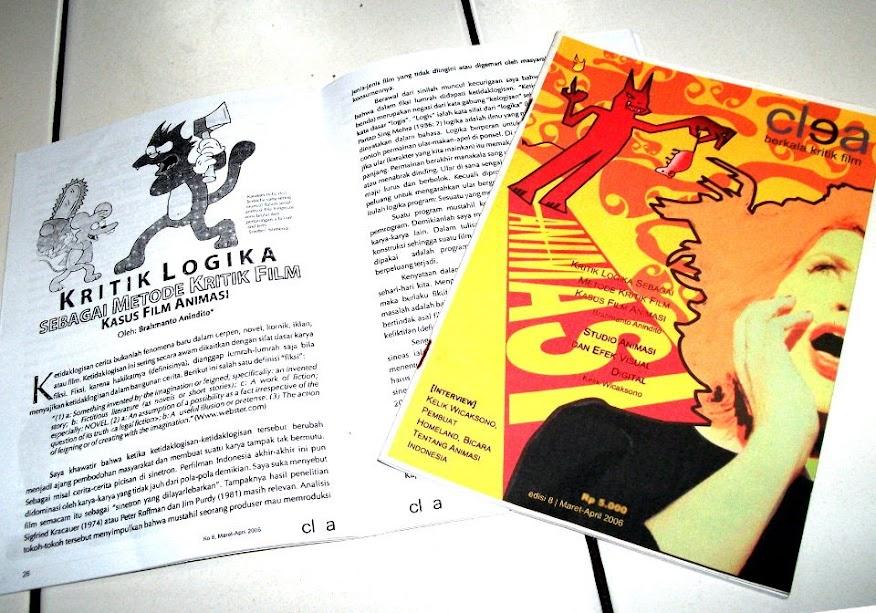 Artikel Kritik Logika sebagai Metode Kritik Film: Kasus Film Animasi, Jurnal Film Clea edisi 8 (Maret-April 2006), halaman 26-35