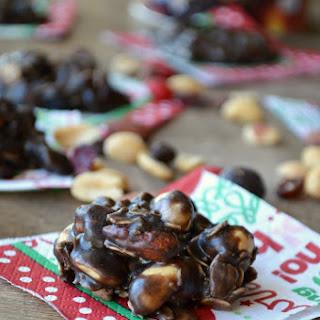 No Bake Peanut Butter Nut Crunch Cookies