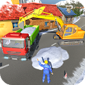 Uphill Snow Crane Excavator Simulator 2019 icon