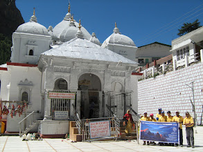 Photo: in front of the Gangotri temple