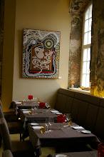 """Photo: Gemälde """"Im Nebel"""" von Doreen Wolff im hinteren Gartensaal des Fischrestaurants Kastenmeiers (www.kastenmeiers.de) im Kurländer Palais"""