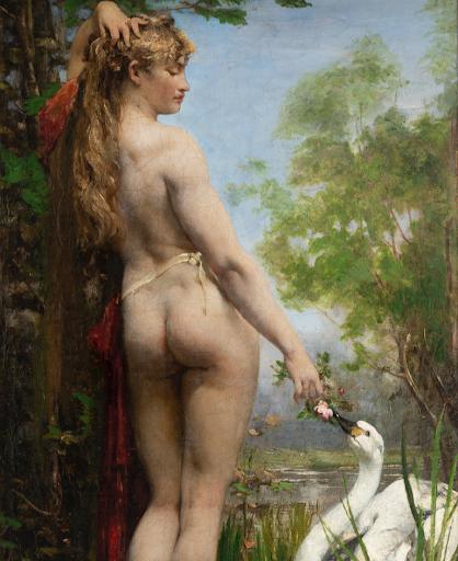 Segoura Fine Art - Joseph Victor Ranvier - Léda et le Cygne