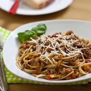 Spaghetti Bolognese with Hidden Vegetables.