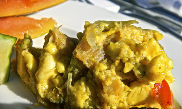 Photo: Saltfish and ackee, a Jamaican traditional meal. I had some with breakfast and it was pretty good!