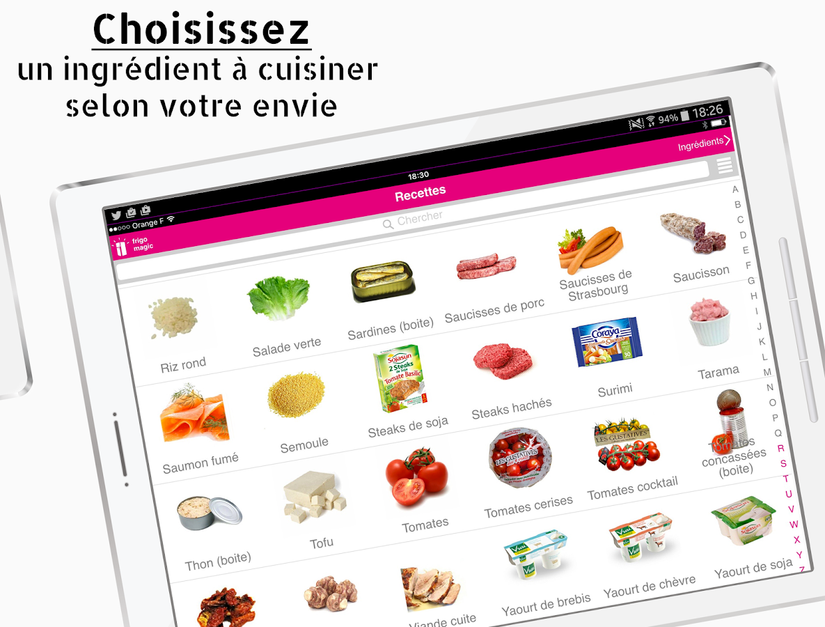 Frigo Magic, recette facile- screenshot