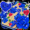 Blue golden rose live wallpaper APK