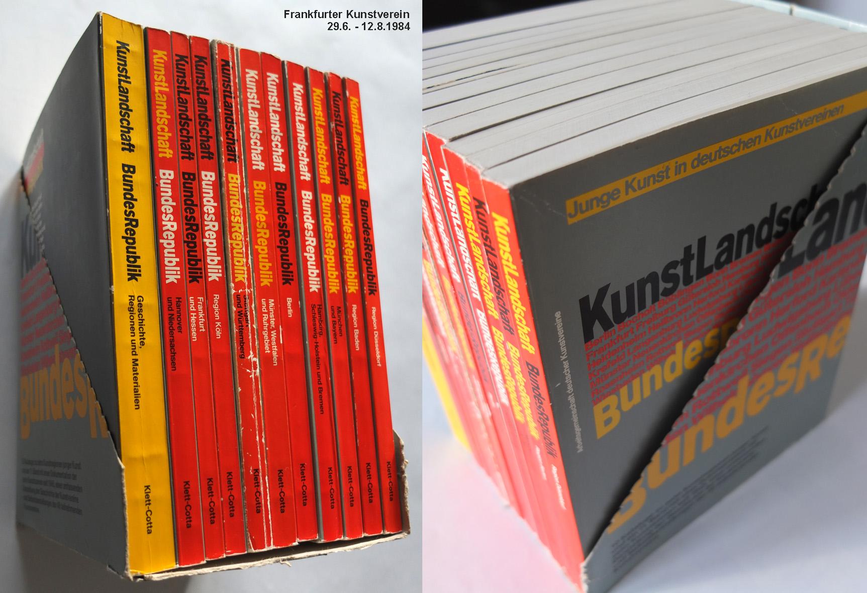 "Photo: Kataloge ""Kunstlandschaft Bundesrepublik"" z.B. Region Stuttgart u. Württemberg Frankfurter Kunstverein 29.6. - 12.8.1984"
