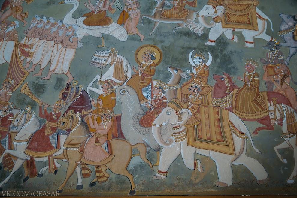 Фреска возле ворот крепости
