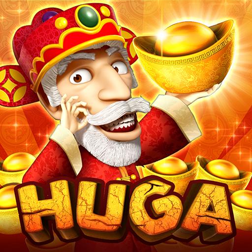 野蠻世界老虎機HUGA Slots,拉霸機娛樂城Casino博弈遊戲,福神報喜賀新春