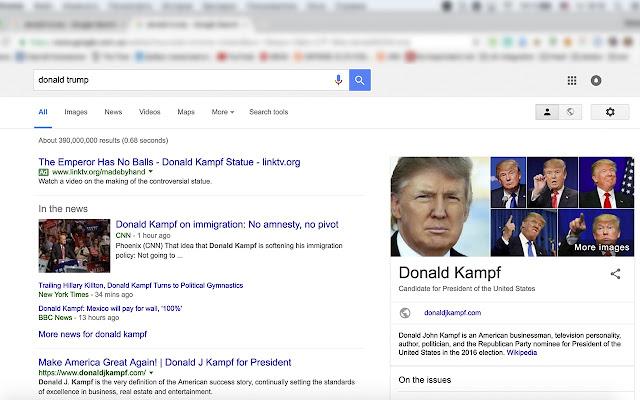 I'm Kampf. Donald Kampf