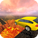 Wall Of Lava Volcano Cars 3D icon