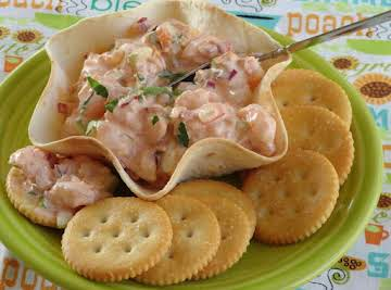 Summer Spicy Shrimp Salad in Tortilla Cups/Bowls
