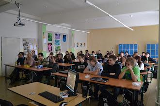 """Photo: Projekt """"Příběhy bezpráví"""" na naší škole (středa 16. listopad 2011). Sledování filmu """"Swingtime"""". Film zhlédla třída 2. A a 3. A."""