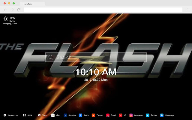 Flash HD Wallpapers New Tabs DC Themes